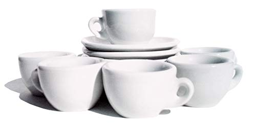 Nuova Point Sorrento Collection Set of 6 Espresso Cups in White by Nuova Point