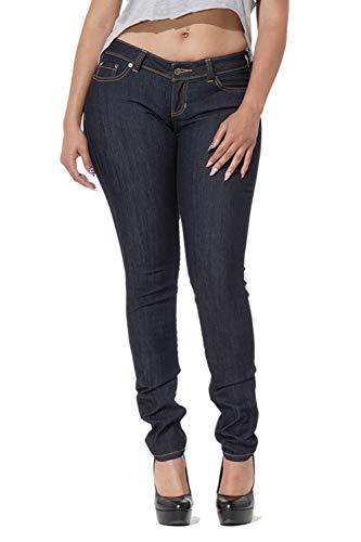 Poetic Justice Tall Women's Curvy Fit Dark Indigo Denim Midrise Skinny Jeans Size 31TX35