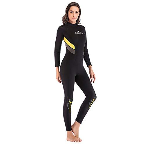 Traje de neopreno de 3 mm para hombre y mujer, de manga larga, traje de buceo para pesca submarina, snorkel, surf, piragüismo, scuba, mujer, S