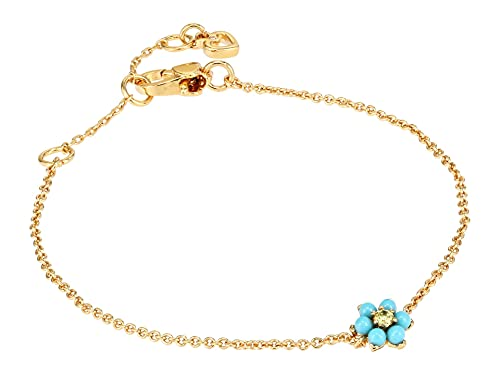 Kate Spade New York Miosotis Flower Bracelet Turquoise One Size