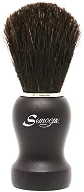 Semogue Pharos C3 Pure Black Horse Shaving Brush Black Handle product image