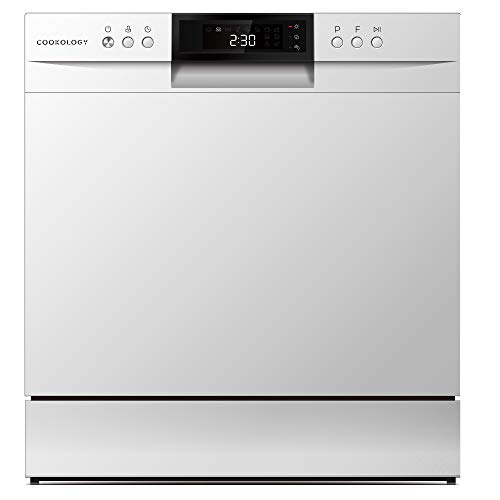 Cookology 8 Place Setting XL Mini Table Top Dishwasher (White)