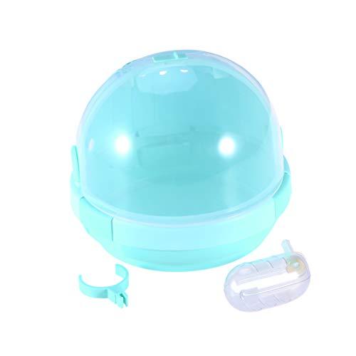 ULTECHNOVO Jaula para hámsters con botella de agua, transportín portátil para animales pequeños, hámster verde nano