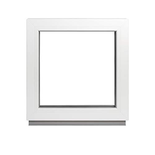 Alle Grössen Festverglasung Kunststoff Fenster - Kellerfenster BxH: 50 x 75 cm weiß fenster- Doppelverglasung Fenster Für Gartenhaus/Garagen Fenster -Premium Kunststofffenster BxH: 500 x 750 mm