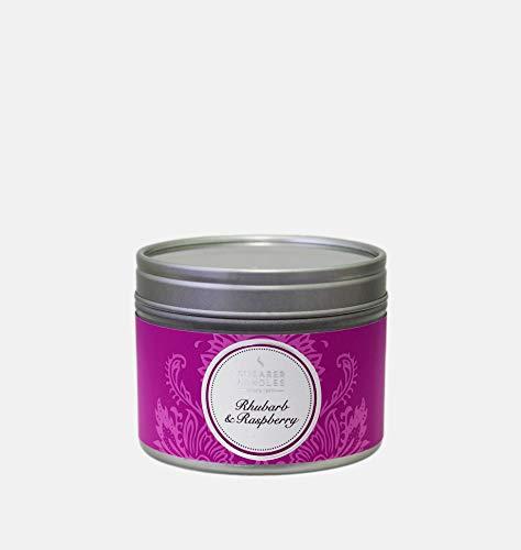 Shearer Candles Duft Zinn Kerze, Paraffinwachs, Docht, Duftöl, Metall, weiß, Raspberry, Baumwolle, pink, silber, H: 47mm x W: 60mm