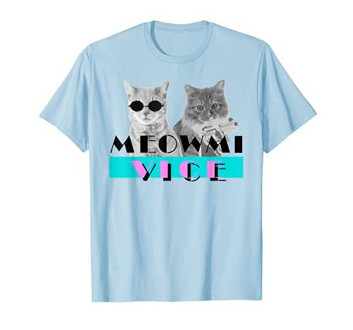 Kitten Meowmi Vice 80s Miami Funny T Shirt - Cat Lovers Gift
