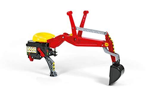 Rolly Toys 409327 - rollyBackhoe Heckbagger (Alter 2,5 - 10 Jahre, Aufsitzbagger, mit Stützfuß, für Heckkupplung)