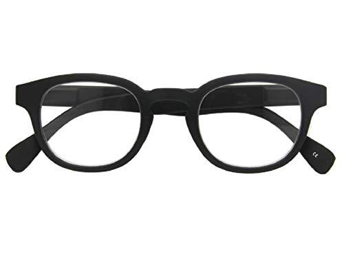 Croon Glasses Montel zwart mat - leesbril - +2 - voor mannen en vrouwen - veerscharnieren