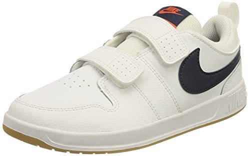 Nike Pico 5, Scarpe da Ginnastica, White/Midnight Navy-Orange, 34 EU