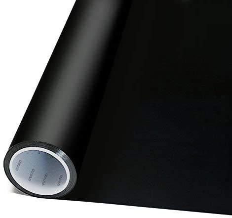 VViViD Abnehmbarer wiederablösbaren klebstoffs Selbstklebend 100% Blackout Haushalt Sichtschutz Fenster Vinyl Aufkleber Rolle 12