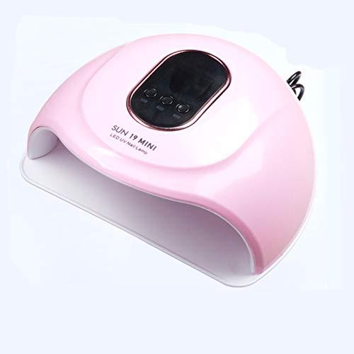Lámpara de uñas de secado de uñas Lámpara de UV, sensor inteligente, con función de temporización 30s 60s 99s, con pantalla LCD, una lámpara de uñas portátil para niñas