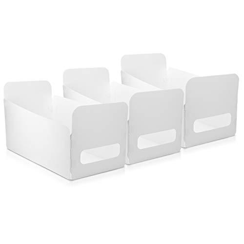 Navaris Lot 3X Bac Rangement Plastique - Boîte Étanche 30x15x18 cm pour Maquillage Cosmétiques Produits Ménagers - Douche Salle de Bain Cuisine