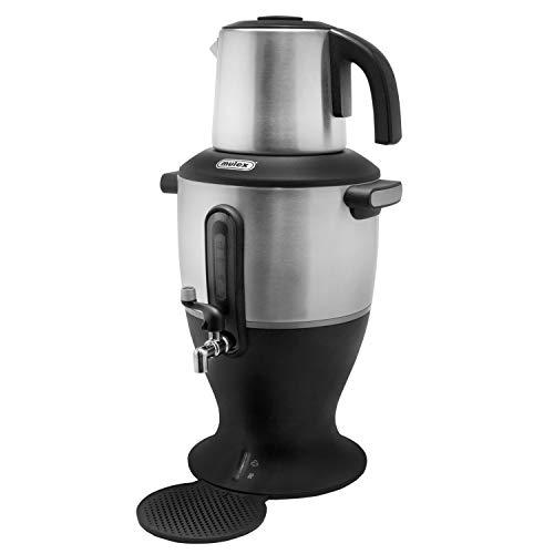 Mulex Samowar Teekocher Wasserkocher Zapfhahn Frischer Tee automatische Warmhaltefunktion 2000W Edelstahl 4,0 Liter