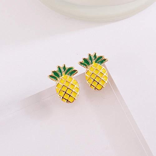 Ohrringe Netz, rote kurze Haarfarbe, Obst-Ananas-Ohrringe, minimalistisches Geschenk für Frauen, Schmuck