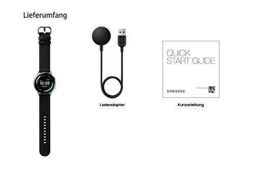 Samsung Galaxy Watch Active2, Fitnesstracker aus Edelstahl, großes Display, ausdauernder Akku, wassergeschützt, 40 mm, Bluetooth, Silber