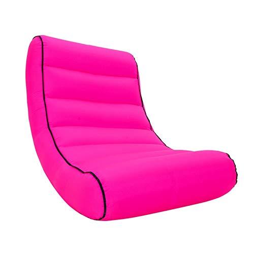 Withou, poltrona a sacco gonfiabile per esterni, semplice e portatile, 200 kg di carico, sedia da salotto per piscina all'aperto, con custodia, spessa, morbida e antiscivolo (colore rosa)