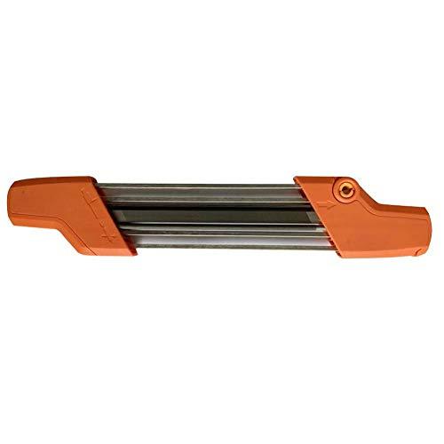 biteatey Feile für Kettensägenschärfer Schärfgerät Schärfset Schleifstein Set Wetzstein Fuer Messer Orange/Silber
