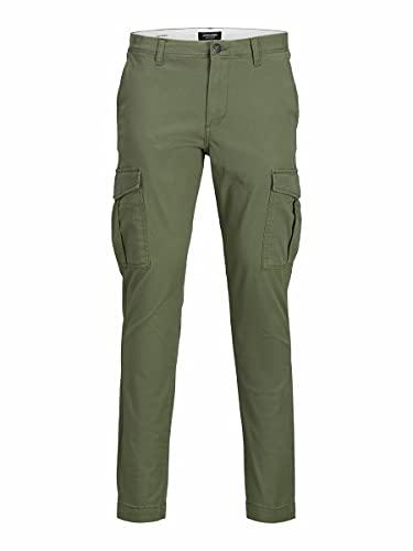 Jack & Jones JJIMARCO JJJOE AKM Dusty Pantalon Cargo, Vert Olive, 29W x 34L Homme