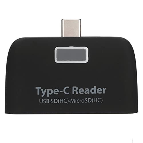 Lector de Tarjetas OTG, Carcasa de Aluminio, Lector de Tarjetas USB 2.0 para teclados de ratón, Discos Duros para Muchos Otros Dispositivos conectados a través de USB
