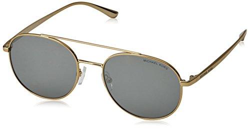 Michael Kors Damen Lon 11686G 53 Sonnenbrille, Gold (Gold/Tone/Gunmetal Mirror)