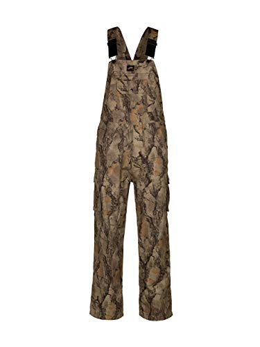 Camouflage Bib Overall for Men and Women, Non-Insulated, Cotton Poly Blend Hunting Coveralls for Warm Weather - Natural Gear (M)