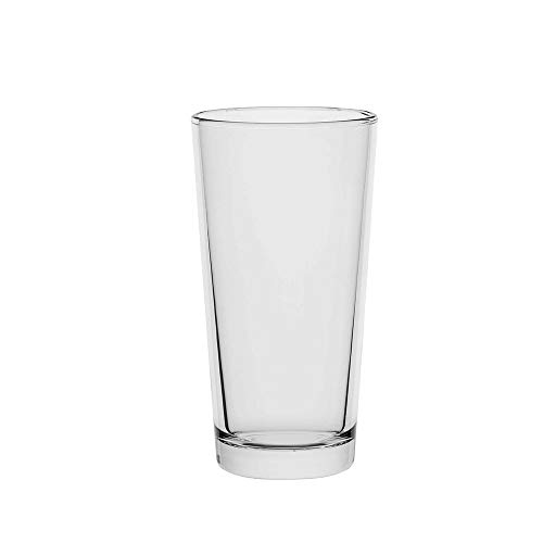 Amazoncommercial Highball Drinking Glasses, Barware Glass Tumbler, 12.5 Oz., Set of 8