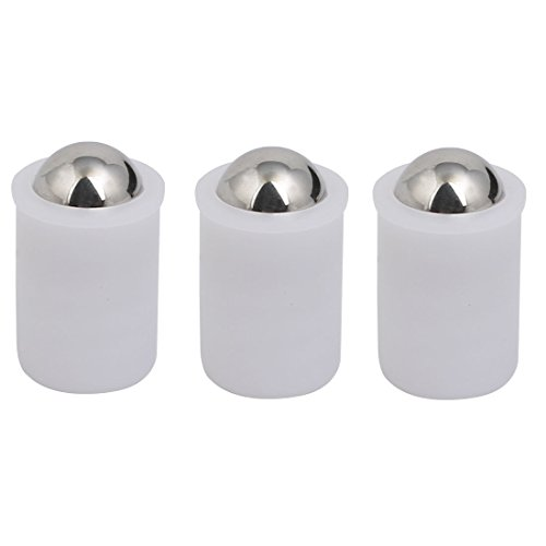 uxcell 10mmx14.5mm Polyacetal Body SUS440C Push-Fit Spring Ball Plunger White 3pcs