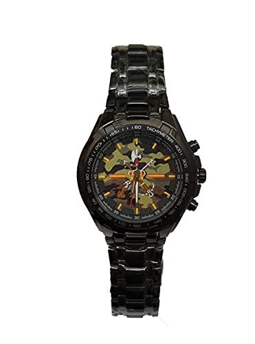 Legion Española, Reloj de Pulsera Personalizado Elegante y Exclusivo. Emblema de la legión sobre Fondo de Camuflaje. Incluye Caja de Regalo