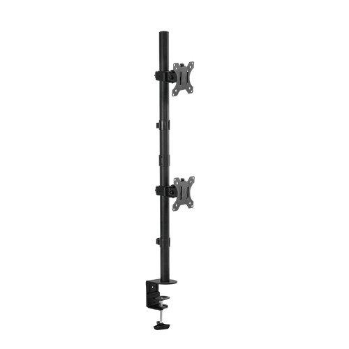 DUAL Tischständer Monitorständer für 2 LED LCD Monitore VESA 75 100 HALTERUNGSPROFI C03V