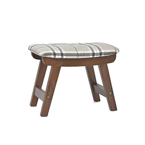 stool Sofá hogar algodón y lino simple creativo sala de estar pequeño banco perezoso zapatos sillas (color: beige a cuadros, tamaño: B)