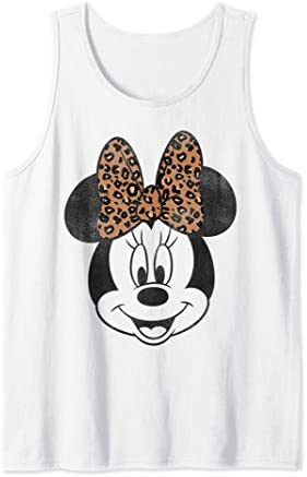 Disney Minnie Mouse Leapord Print Bow Portrait Tank Top product image