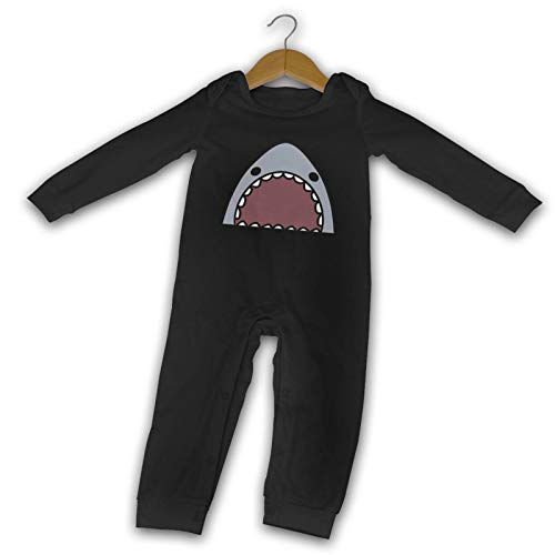 WushXiao Shark Long Comfort Baby Crawler Black Gr. 6 Monate, Schwarz