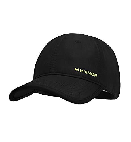 MISSION Hydroactive Max Performance Hat Black, Black/Hi Vis Green, One Size