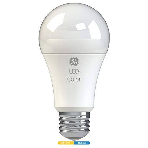 LED+ White Light Color Changing Light Bulb, A19, 60-Watt Replacement, Soft White/Daylight, LED Light Bulb with 2 Color Options