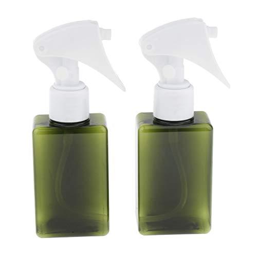 P Prettyia 2pcs Bouteille Cosmétiques Flacons Vides Vaporisateurs Parfum DIY - Vert foncé