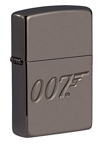 Zippo Unisex-Erwachsene Armor James Bond 007 Black Ice Lighter Feuerzeug, Schwarz, One Size