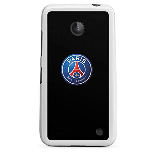 DeinDesign Silikon Hülle kompatibel mit Nokia Lumia 630 Hülle weiß Handyhülle Offizielles Lizenzprodukt Paris Saint-Germain PSG