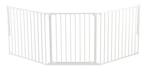 Baby Dan Konfigurationsgitter / Kaminschutzgitter Flex L, 90 - 223 cm - Hergestellt in Dänemark und vom TÜV GS geprüft, Farbe: Weiß