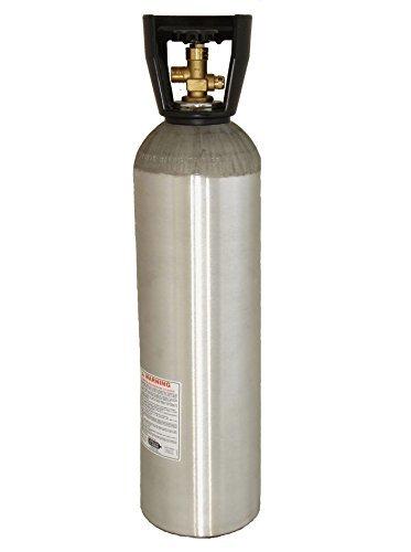 Zebra DNA Luxfer L6X 15 LB Brushed Aluminum CO2 Tank for Beverage