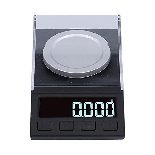 Báscula digital de bolsillo, báscula para joyería 100 g USB Mini báscula digital LED de alta precisión con pesas de calibración Pinzas, para alimentos, joyería, medicina, café