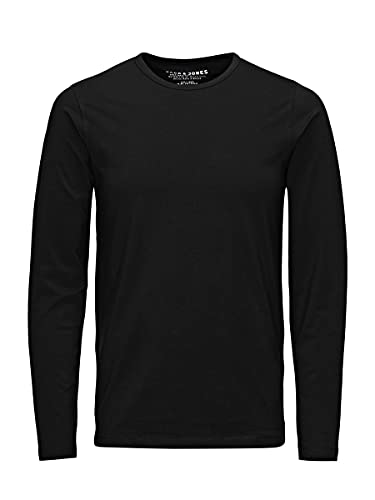 JACK & JONES Herren Longsleeve JJEBasic O-Neck Langarm-Shirt 12059220 Black L