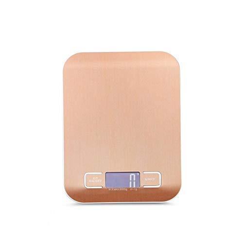 LJP Levensmiddelweegschaal, 10 kg nauwkeurigheid, digitale weergave, waterdicht, elektronisch koken, huishoudelijke apparaten voor huis en keuken 5kg/1g Goud
