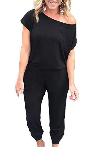 (50% OFF) Loose Fit Off Shoulder Jumpsuit $14.50 – Coupon Code
