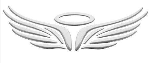 3D Flügel Engelsflügel Angel Auto Aufkleber Sticker Emblem chrom silber PVC
