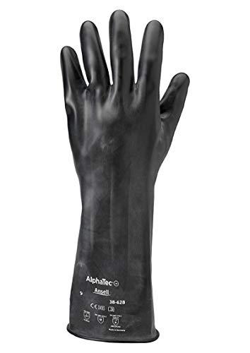 Ansell Alphatec 38-628 Chemikalien Handschuhe, Maximaler Schutz für Gefährliche Arbeiten, Weiches und Komfortables Design, Arbeitshandschuhe Wiederverwendbar, Latexfrei, Größe L (1 Paar)