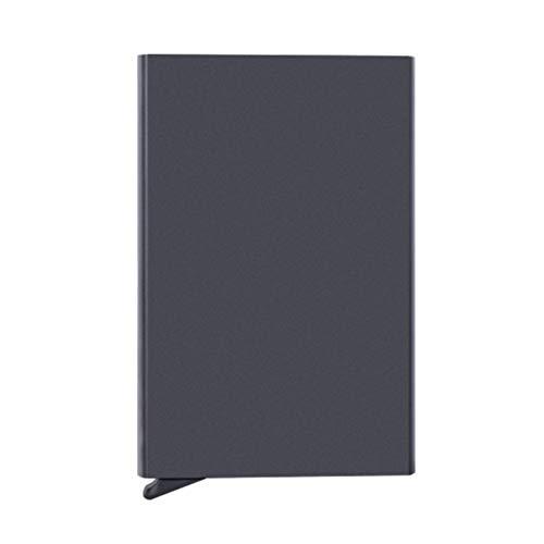 Credit Card Holder Metal Slim Cards Wallet Front Pocket Card Protector Automatic Pop up Desgin Up to 7 Cards RFID Blocking (Black)
