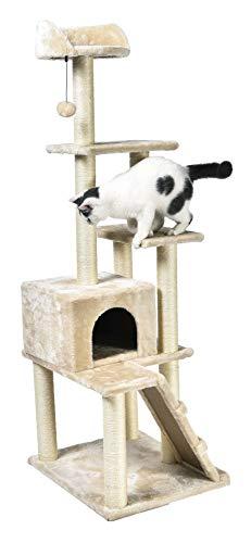 AmazonBasics - Árbol con varias torres para gatos, grande, 61x154,9x48,3 cm, beige