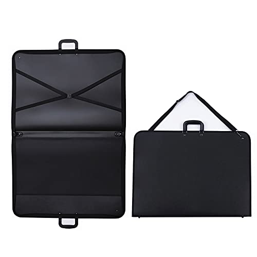 1st Place Products Professional Art Portfolio Case - 20 x 28 Inches - Light Weight & Durable - Shoulder Strap & Handle Options - Three Inside Pockets - Water Resistant - Documents Posters Monitors