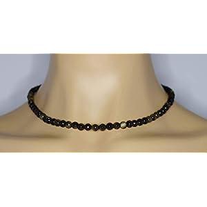 Bronzit Halskette Bronzit Kugeln facettiert Größe ca. 6 mm Verschluss 925er Sterling-Silber Artikel-Nr. 4395H