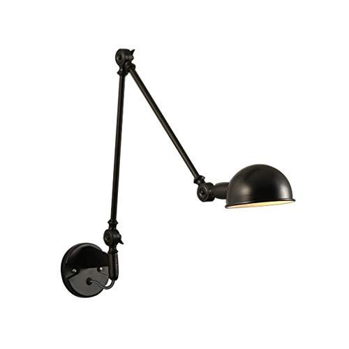 Sgfccyl Klapstoel voor wiegstoel, slaapkamer, nachtkastje, creatieve persoonlijkheid, industriële retro, intrekbaar, Amerikaanse wandlamp, mechanische schommel
